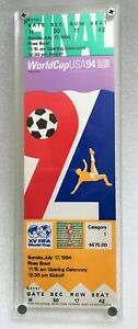 FIFA World Cup USA 1994, Final, Brazil vs Italy, Replica Ticket, Framed, Soccer