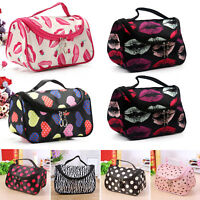 Women Make Up Travel Organiser Accessory Toiletry Cosmetic Holder Case Bag Pouch