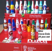 SET OF 24 MINI COCA COLA MEXICO BOTTLES - RUSSIA SOCCER FOOTBALL WORLD CUP 2018