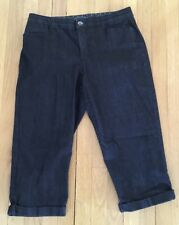 Bandolino Maureen Crop Dark Stretch Denim Crop Pants Jeans Ladies 10 EUC