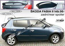 SPOILER REAR ROOF SKODA FABIA 2 II MK2 MKII WING ACCESSORIES