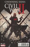Civil War II Choosing Sides Comic 1 Cover B Variant First Print 2016 Marvel .
