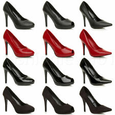 Womens Mens Drag Queen Crossdresser High Heel Platform Court Shoe Large Size New