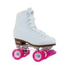 Chicago Ladies Classic Quad Roller Skates- White, US 8