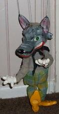 VINTAGE PELHAM PUPPETS ANIMAL RANGE WOLF HAND MADE PUPPET BOXED