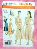 Uncut Simplicity Misses Sz 6-14, 50s Vintage Halter Dress & Jacket Pattern 3780