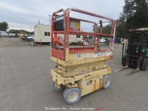 JLG CM-1732 Electric 17' Scissor Lift Man Aerial Platform 24V -Parts/Repair