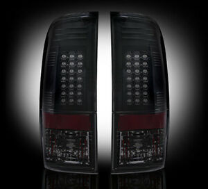 1999-2007 Ford SuperDuty & 1997-2003 F-150 Rear LED Tail Lights with Smoked Lens