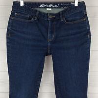 Eddie Bauer Curvy Straight Womens Sz 6 Stretch Low Rise Blue Dark Wash Jeans