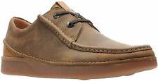 Clarks Oakland Seam Mens Active Air Shoes  Tan Leather UK 8 1/2 EU 42.5