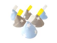 Pee Pee Teepee x6 / Wee Stop Cones Teepees / Boy Baby Shower / Stars Blue Grey