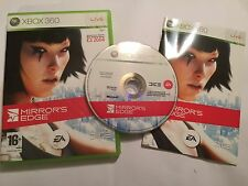 PAL XBOX 360 GAME MIRROR'S EDGE +BOX & INSTRUCTIONS COMPLETE