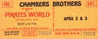 CHAMBERS BROTHERS 1970 WAKE UP TOUR UNUSED PIRATES WORLD CONCERT TICKET NM 2 MNT
