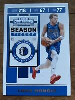 2019-20 Luka Doncic Panini Contenders Season Ticket #73 DALLAS MAVERICKS