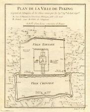 'Plan de la Ville de Peking'. City plan of Beijing, China. BELLIN 1748 old map