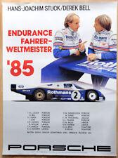 """org. Porsche Plakat Renn Poster """"Weltmeister"""" 1985 Rothmans Porsche 962"""