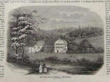 Bad Liebenzell, untere Bad -  Textholzstich 1856