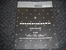 MARANTZ CAR-300. Service Manual Original Paper