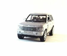 LAND ROVER RANGE ROVER SILVER WELLY 1:32 DIECAST CAR  COLLECTORS MODEL , NEW