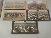 (5) Union Stock Yards Chicago Illinois Stereoview Photographs cdii