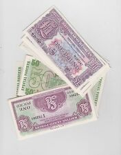 More details for 26 mint condition military armed forces banknotes some consecutive mint runs