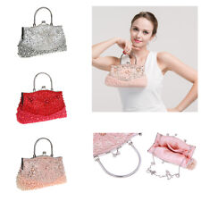 New Ladies Beaded Party Prom Bridal Evening Clutch Hand Bag Purse Wallet