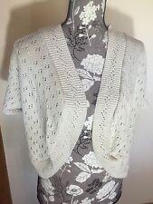 Simply Be Knit Shrug Women's Size UK 28/30 U.S. 24/26 Cream Colored