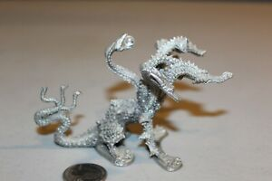 Vintage Ral Partha Pewter PP 807 Seven Headed Hydra Dragon Dungeon D&D 1986 RARE