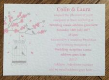 50 Personalised Vintage Wedding Invitations Evening Invites butterfly birdcage 2