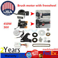 450W 36V Electric Bike Conversion Kit Left Drive Cycling Hub Motor E-Bicycle Set