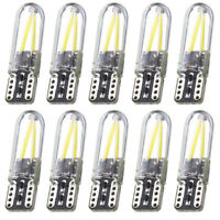 10x T10 194 168 W5W 12V 3W COB LED CANBUS Silica Bright Glass License Light Bulb