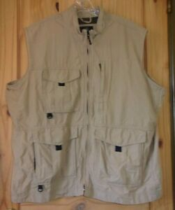 RedHead Khaki Fishing Vest, Mens 2XL