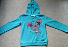 Jumping Beans Girls' Blue Mouse Long Sleeves Sweatshirt - Size 7