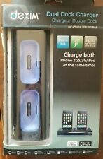 Dexim Dual Dock Charger for iPhone 3GS/3G/iPod *BEST RATED SELLER*!!