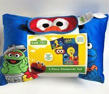 Sesame Street Characters 3 Piece Sleepover Set - Big Bird Elmo Cookie Monster