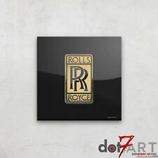 Rolls Royce Badge Luxury Black Open Edition Print