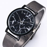 DE MUJER HOMBRE Deluxe Reloj Acero Inoxidable Cuarzo MILITAR DEPORTE Esfera