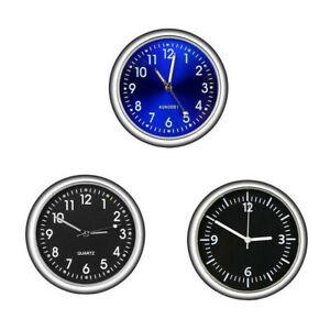 Pocket Mini Quartz Analog Watch Stick-On Clock Fit For Car Motorcycle Van Boat