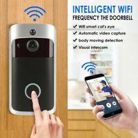 Smart WiFi Doorbell Wireless IR Video Camera Intercom Record Home Bell Security