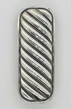David Yurman Cable Classics Sterling Silver Tension Money Clip Retail $395