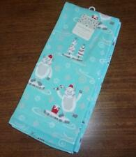 Cute! New Cynthia Rowley Yeti Abominable Snowman Set of 2 Cotton Kitchen Towels