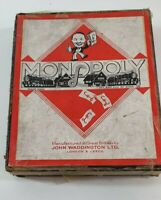 Vintage Monopoly Game 1940s Waddington Board Game