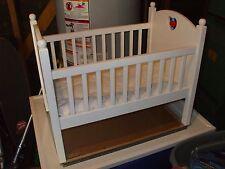 American Girl Bitty Baby Crib, Pink Heart, Retired