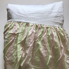 LILLY PULITZER Pink Green Stripe Twin BedSkirt 100%cotton EUC