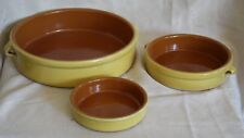 Williams Sonoma Tipio Breda Set 3 Terracotta CAZUELAS Tortilla,Tapas Individual