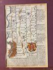 18th C Road Maps Owen & Bowen Road Strips 1720-c.1764 London to Abingdon p 33-34