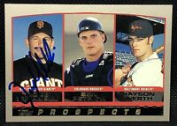 RARE Doug Mirabelli RC Autographed Signed 2000 Topps Rookie Card SF Giants