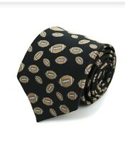 Football pattern Novelty Neck Tie black