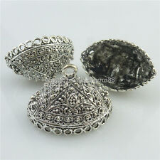 18451 4X Antique Filigree Connector for Tassel Bead End Cap Oval Garland Pendant