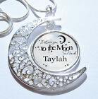 Personalised Any Name I Love You To The Moon And Back Pendant Necklace